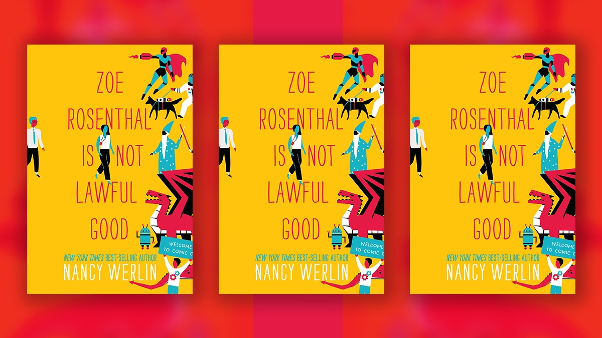 The Cover of Zoe Rosenthal is Not Lawful Good three times