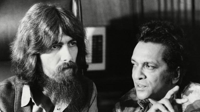 George Harrisson and Ravi Shankar in 1971