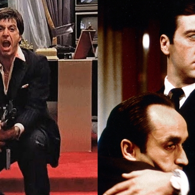 Al Pacino in Scarface and The Godfather Part II