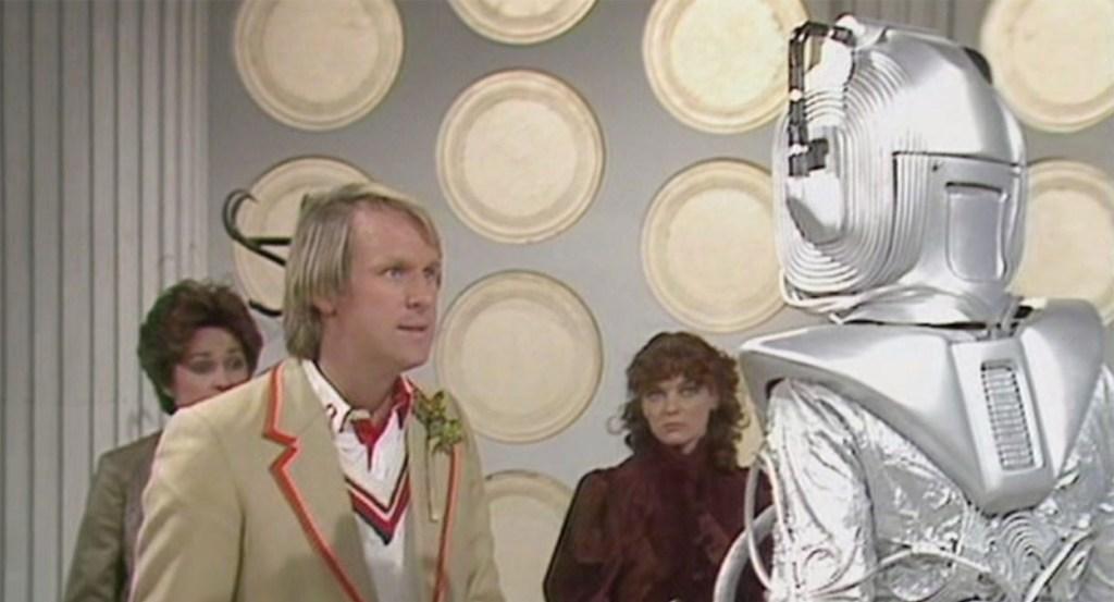 Doctor Who Earthshock Cyberman Peter Davison