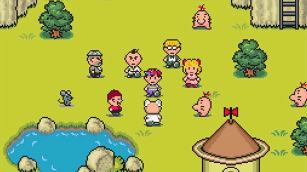 Earthbound SNES RPG characters