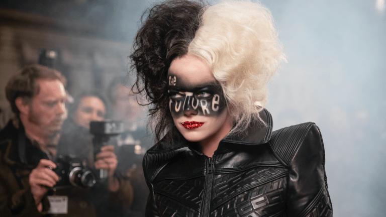 Emma Stone as Cruella in Future makeup