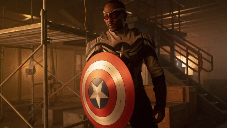 Sam wields the shield in The Falcon and the Winter Soldier