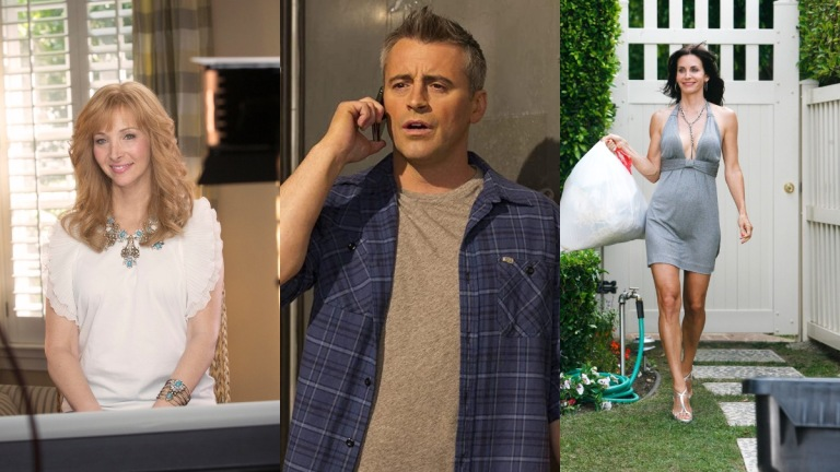 Lisa Kudrow in The Comeback, Matt LeBlanc in Episodes, and Courteney Cox in Cougar Town