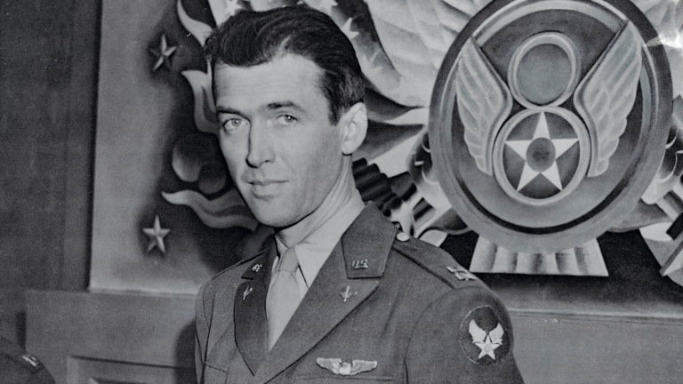 Jimmy Stewart as Army Captain in WW2 Air Force