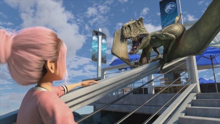 Brooklyn faces down a Dimorphodon in Jurassic World Camp Cretaceous Season 3