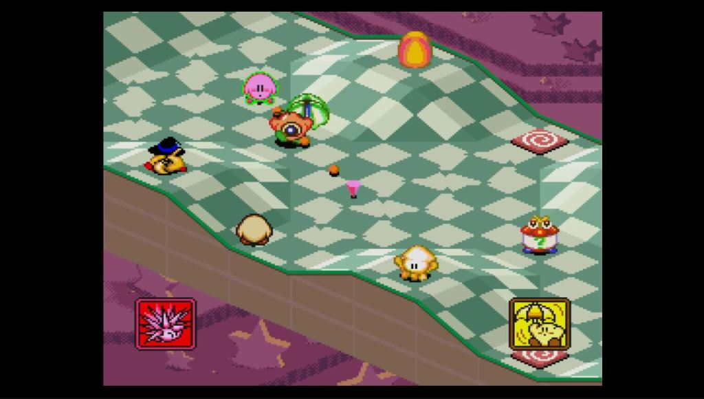 Kirby's Dream Course SNES gameplay