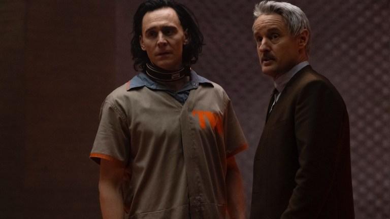 Loki (Tom Hiddleston) and Agent Mobius (Owen Wilson) in Loki Clip