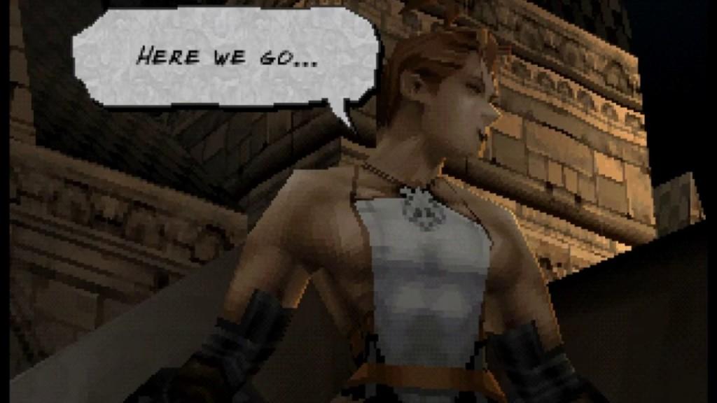Vagrant Story PS1 cutscene