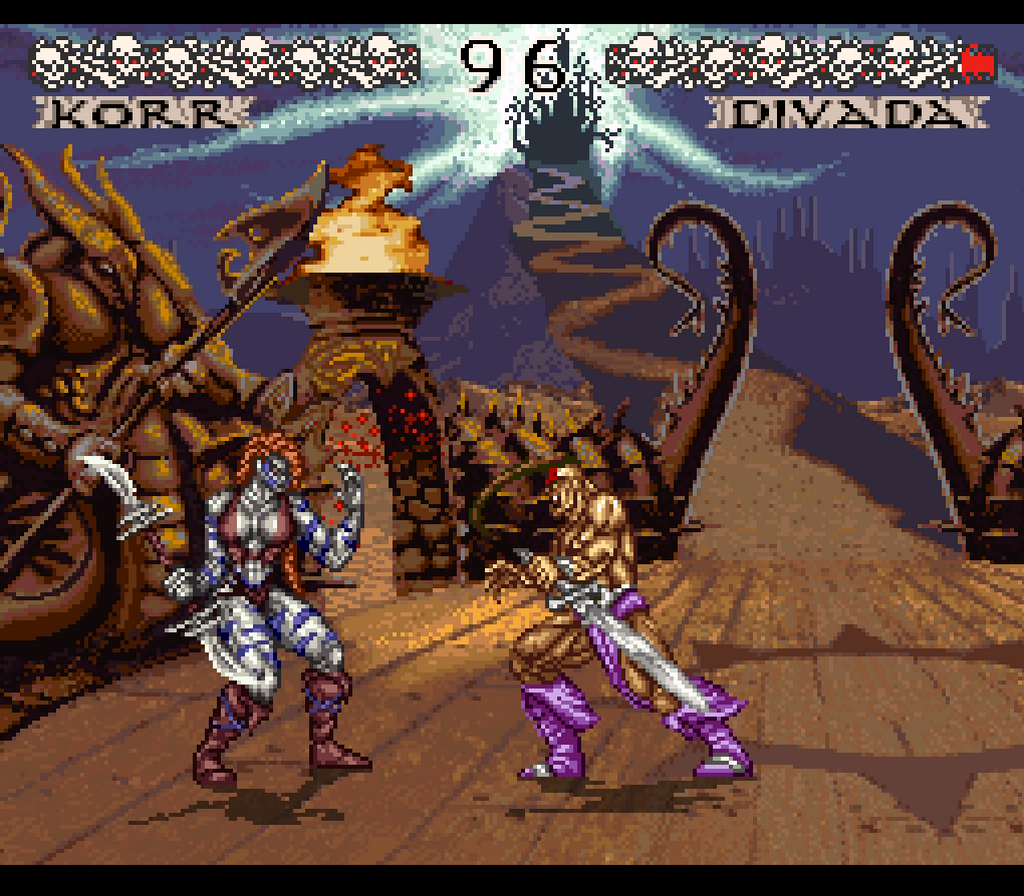 Weaponlord SNES fighting game