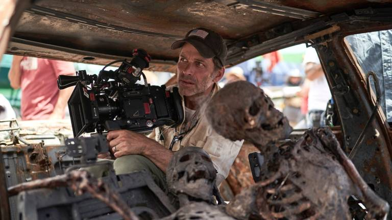 Zack Snyder filming Army of the Dead skeletons