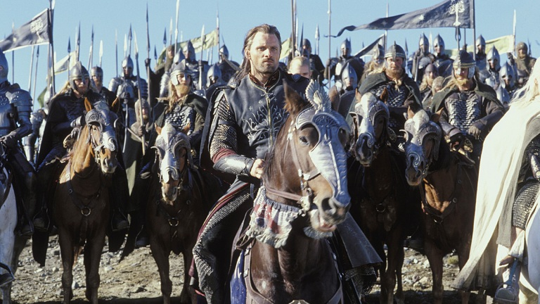 Viggo Mortensen as Aragorn in The Lord of the Rings: Return of the King.