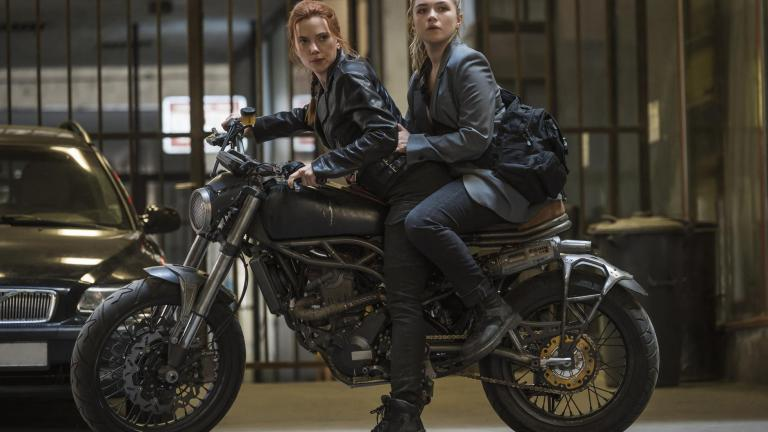 Scarlet Johannson and Florence Pugh in Black Widow