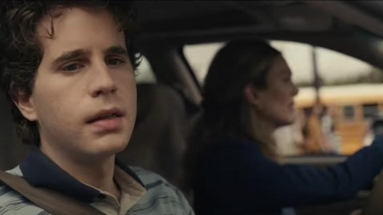 Ben Platt stares out the car window in Dear Evan Hansen