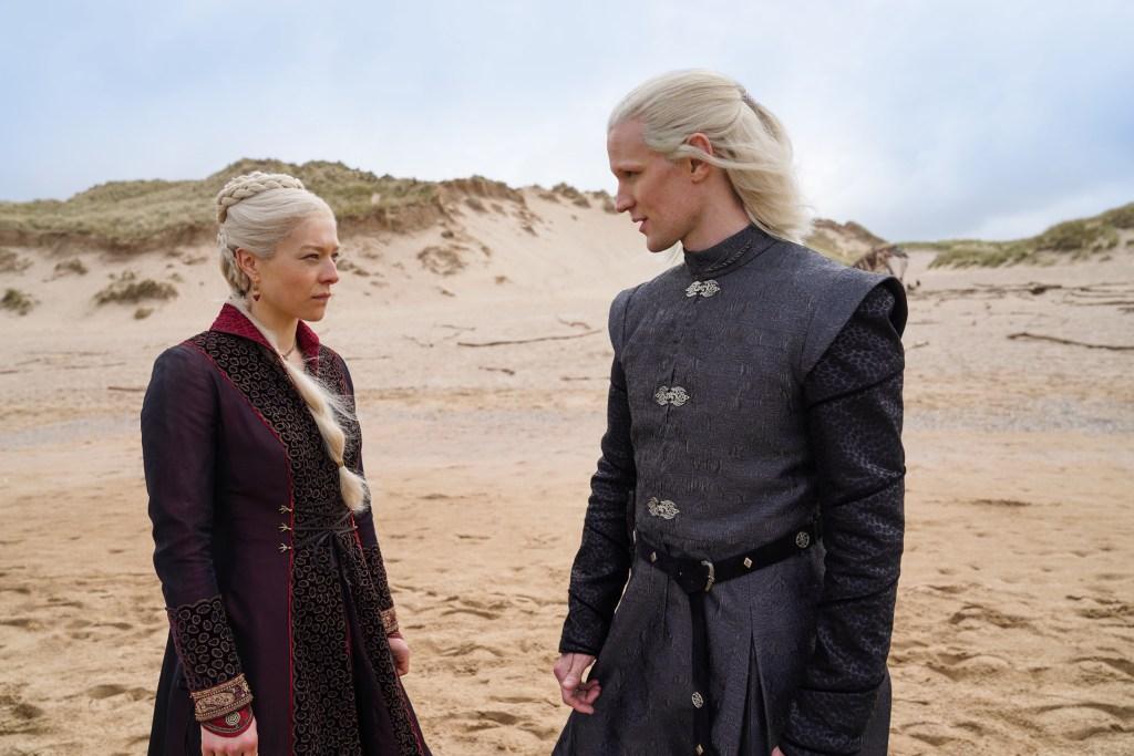 House of the Dragon - Emma D'Arcy and Matt Smith as Rhaenyra and Daemon Targaryen