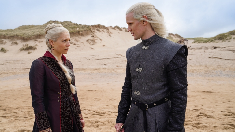 Emma D'Arcy and Matt Smith as Rhaenyra and Daemon Targaryen in House of the Dragon
