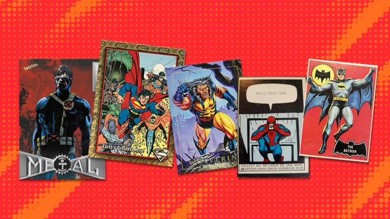 The History of Superhero Trading Cards