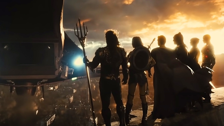 Justice League team lineup.