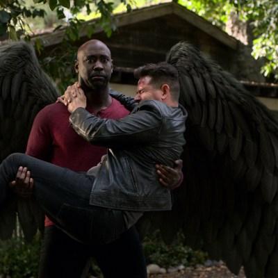 DB Woodside and Tom Ellis in Lucifer season 5 episode 12