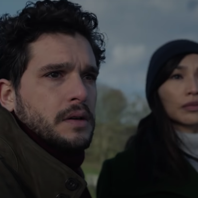 Kit Harington as the Black Knight and Gemma Chan as Sersi in Marvel's Eternals