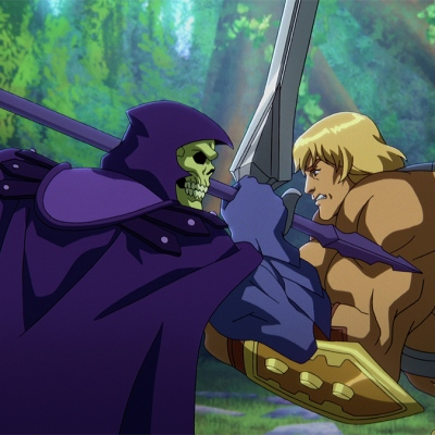 Skeletor and He-Man in Masters of the Universe: Revelation.