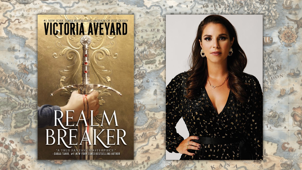 Realm Breaker by Victoria Aveyard; book cover and author photo