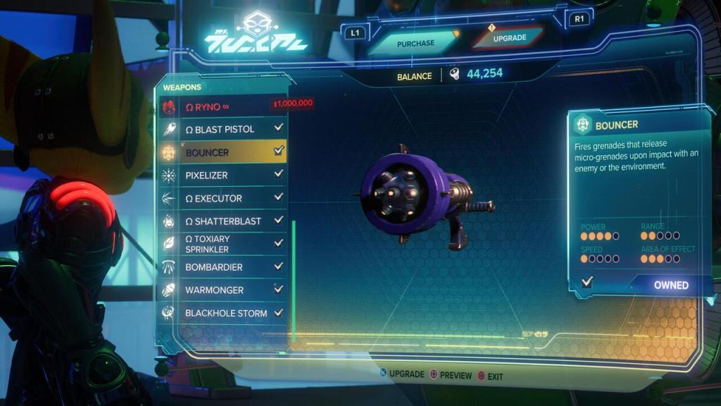 Bouncer weapon Ratchet and Clank Rift Apart