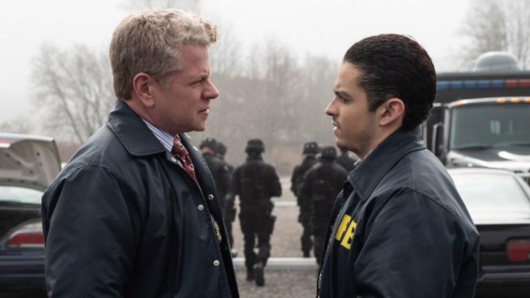 Paul Krendler (Michael Cudlitz) and Tomas Esquivel (Lucca De Oliveira) in Clarice Episode 13