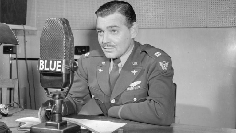 Captain Clark Gable at radio in World War II