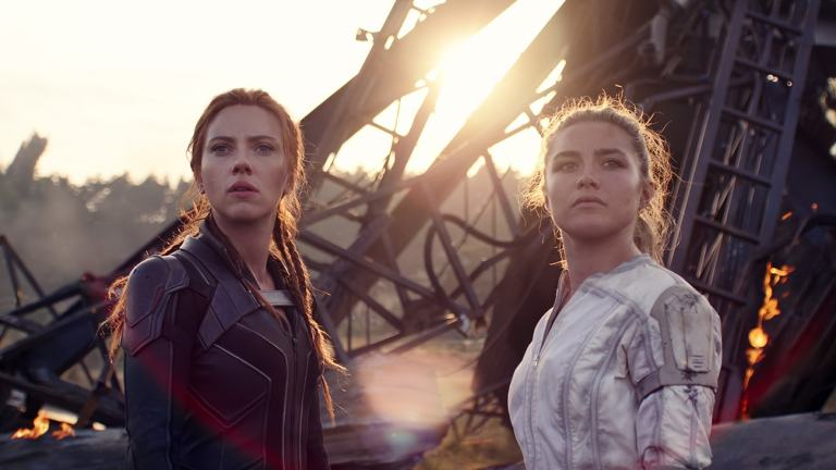 Scarlett Johansson and Florence Pugh in Black Widow