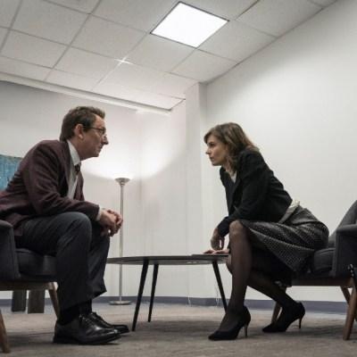 Leland Townsend (Michael Emerson) and Kristen Bouchard (Katja Herbers) in Evil season 2
