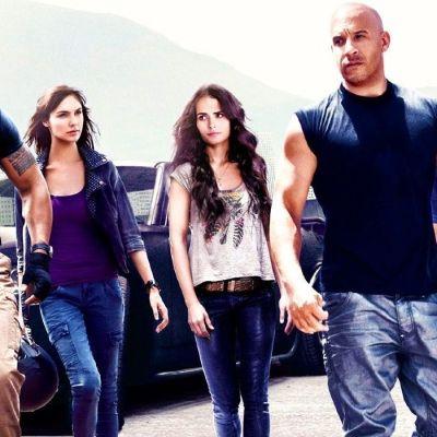 Vin Diesel, Dwayne Johnson and Gal Gadot in Fast Five