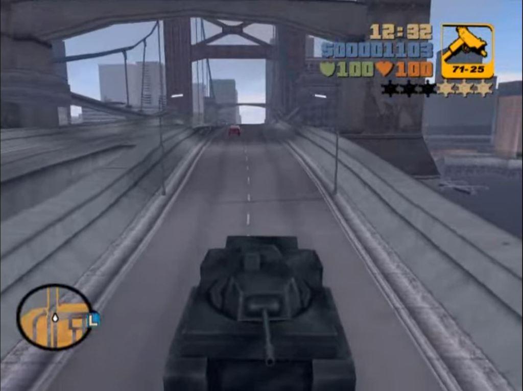GTA 3 tank cheat