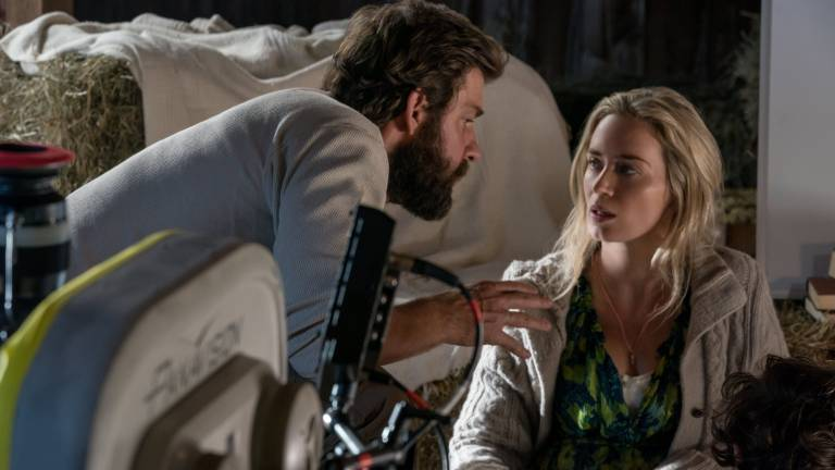 John Krasinski and Emily Blunt making A Quiet Place