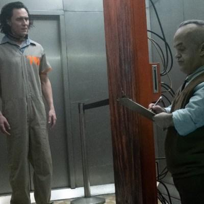 Loki (Tom Hiddleston) arrives at the TVA in Loki (2021)