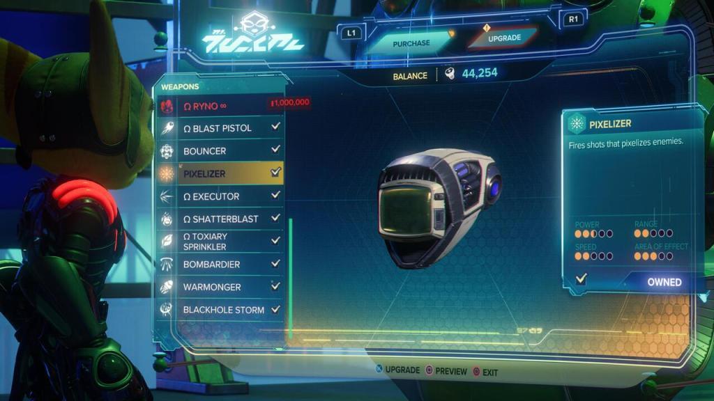Pixelizer weapon Ratchet and Clank Rift Apart