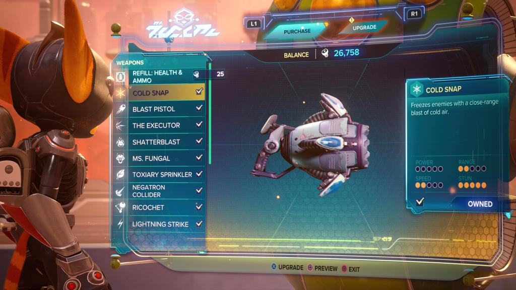 Ratchet and Clank Rift Apart Cold Snap