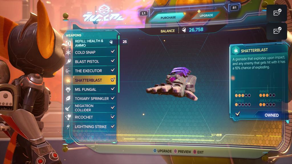 Ratchet and Clank Rift Apart Shatterblast