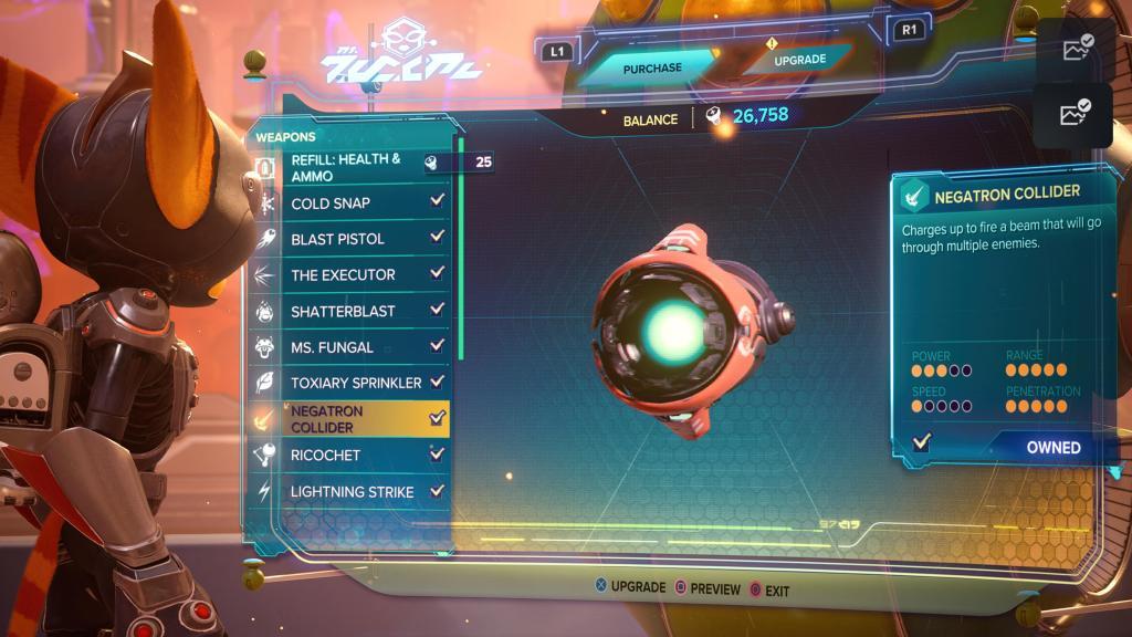 Ratchet and Clank Rift Apart Negatron Collider