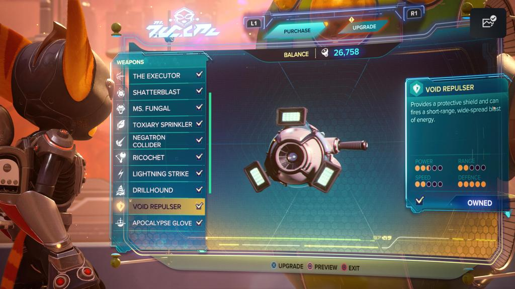 Ratchet and Clank Rift Apart Void Repulsor