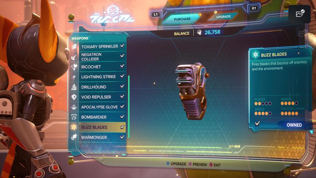 Ratchet and Clank Rift Apart Buzz Blades