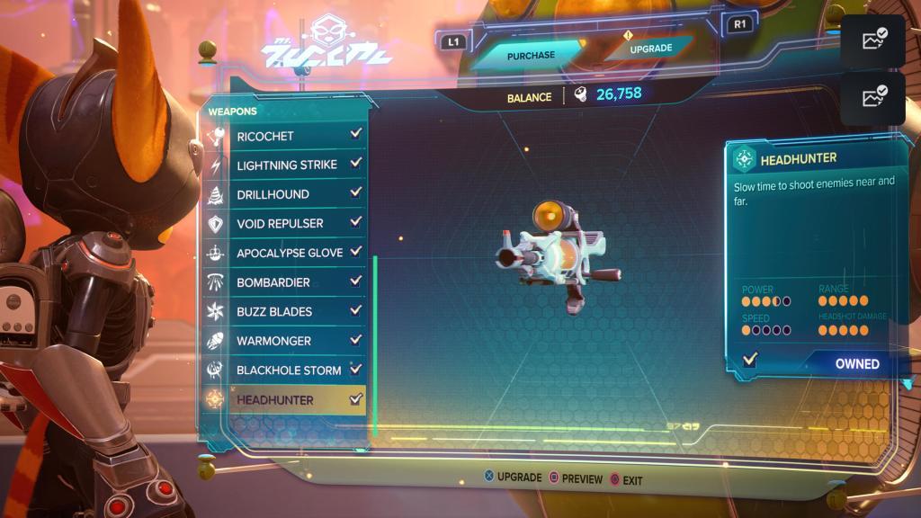 Ratchet and Clank Rift Apart Headhunter