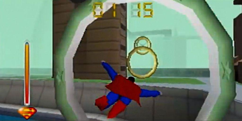 Superman 64 flying