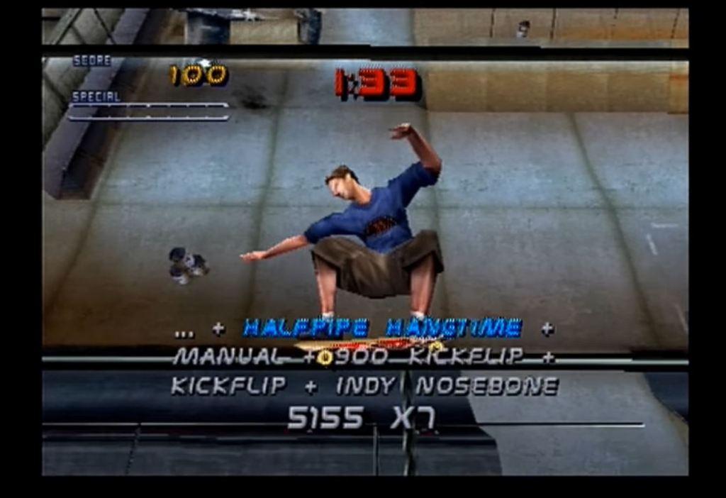 Tony Hawk's Pro Skater 2 moon physics cheat code