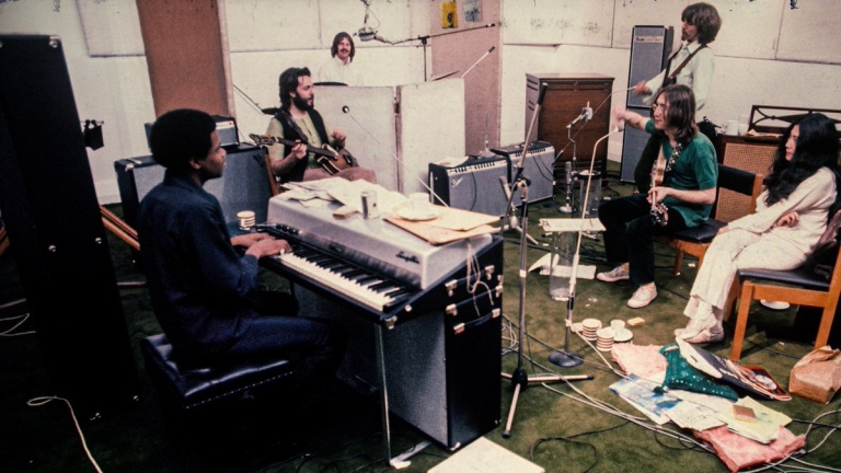 The Beatles during Let It Be recordings