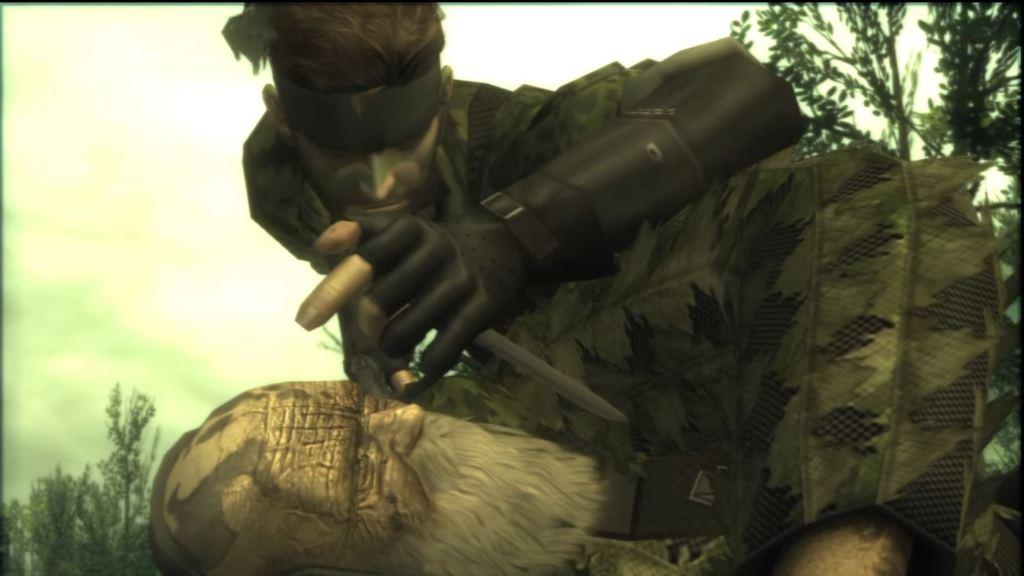Metal Gear Solid 3 The End cutscene