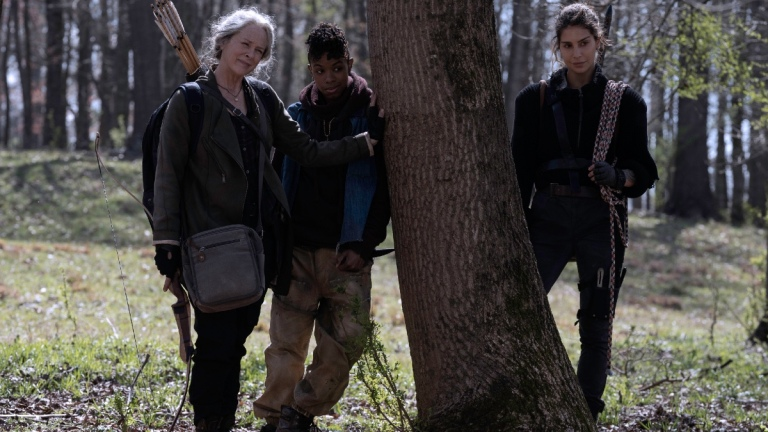 Carol, Kelly, and Magna on The Walking Dead season 11