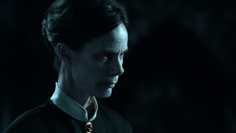 Eugenie Bondurant as the occultist in The Conjuring The Devil Made me Do It