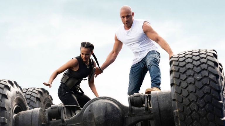 Vin Diesel and Nathalie Emmanuel in F9