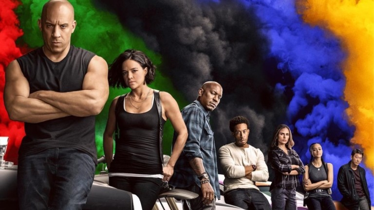 Vin Diesel and cast of F9 ending